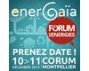 EnerGaïa, Forum des énergies - 10 et 11 décembre 2014 - Montpellier