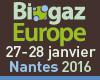 Biogaz Europe, Nantes, les 27 et 28 janvier 2016