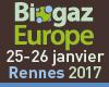 Biogaz Europe 2017, les 25 et 26 janvier 2017 à Rennes