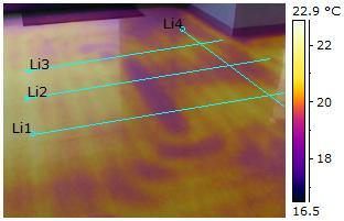 Diagnostic du chauffage au sol avec une caméra infrarouge FLIR