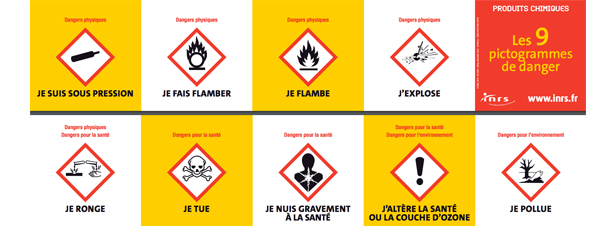 Tous les produits chimiques doivent être étiquetés selon le règlement CLP au 1er juin 2017