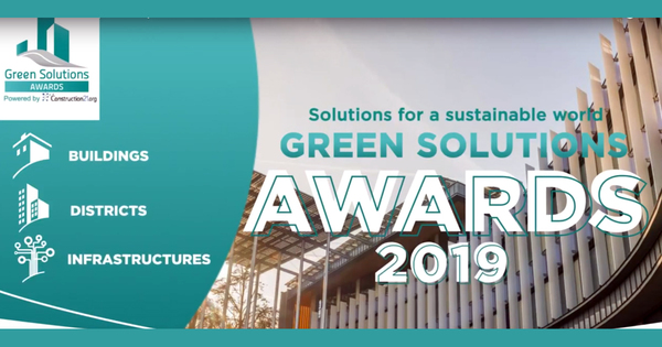Green solutions awards 2019 : les infrastrutures françaises se distinguent