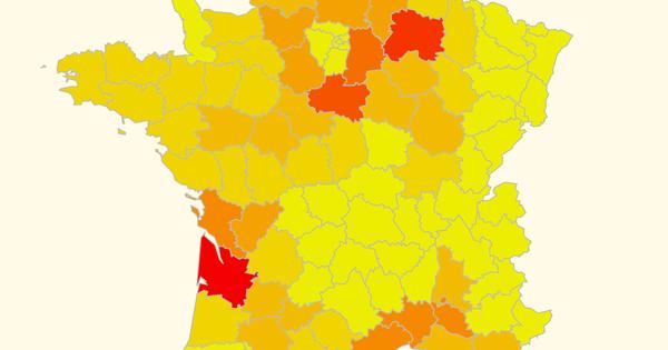 Pesticides: une carte des départements les plus consommateurs