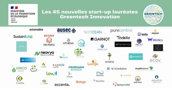 Quarante-cinq startups reçoivent le label Greentech Innovation