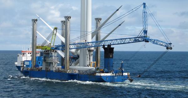 Détection d'une pollution aux hydrocarbures sur le chantier du parc éolien de Saint-Brieuc