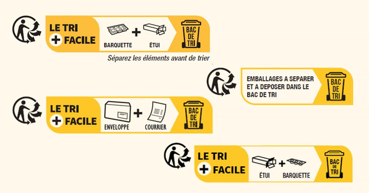 Emballages ménagers: le nouvel info-tri est dévoilé