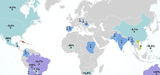 OGM : léger retrait des surfaces cultivées dans le monde en 2015