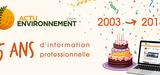 2003-2018 : 15 ans d'évolution d'Actu-Environnement en chiffres et dates clés