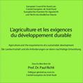 Agriculture et les exigences du développement durable (L')