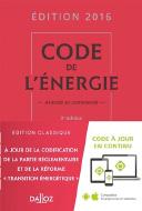 Code de l'énergie 2016