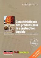 Caractéristiques des produits pour la construction durable (2e éd.)
