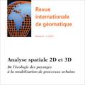 Analyse spatiale 2D et 3D - De l'écologie des paysages à la ...