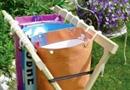 Portique + sacs de pré-tri des déchets pour faciliter le tri sélectif