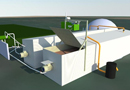 ArkoBloc : micro-méthanisation en voie semi-épaisse prêt-à-poser par Arkolia Energies