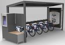 SunPod� Cyclo, station de recharge solaire autonome pour v�los �lectriques