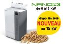 Chaudière à granulés NanoPK 6-15 kW, petite chaudière pour maisons BBC par HARGASSNER France