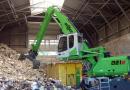 Pelle 821 M Sennebogen : pelle de manutention adaptée au tri des déchets par SYGMAT