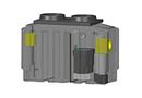 Séparateur d'hydrocarbures 1,5-30 l/s avec débourbeur V100 en PE par SIMOP SAS