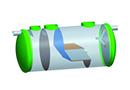 Décanteur particulaire 2m/h en PRV pour eaux de ruisellement par SIMOP SAS