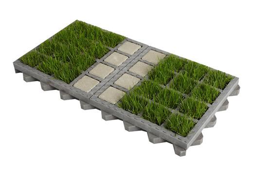 Dalle gazon O2D GREEN® pour stationnements végétalisés perméables