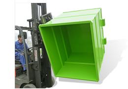 Bennes polyvalentes pour chariot à tête rotative BR pour vidage intégral