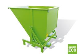Bennes basculantes eco GIO pour le tri sélectif des déchets d'emballages