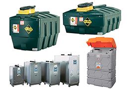 Cuves pour huiles usagées, stockage intérieur ou extérieur - 400 à 2 500 L