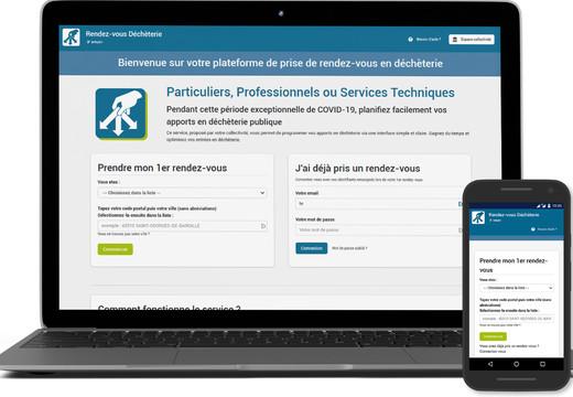 Portail web de prise de RDV avec les services déchets des collectivités