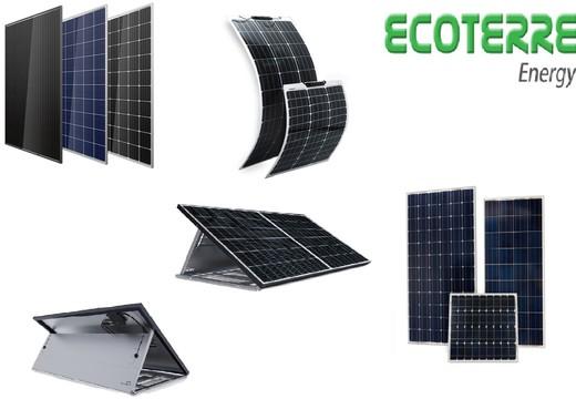 Panneaux solaires haut de gamme pour sites isolés, camping-cars et bateaux
