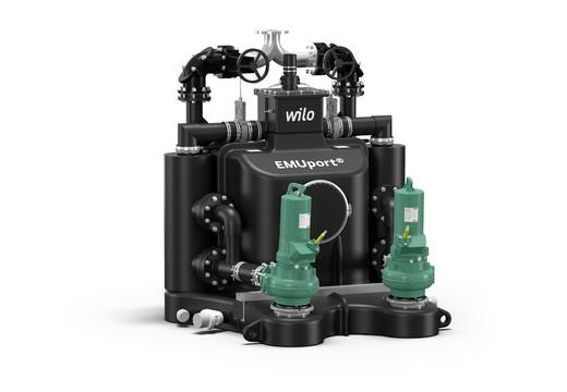 Wilo-EMUport Core : station de relevage anti-engorgement pour eaux chargées