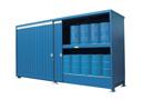 Conteneur de stockage intérieur ou extérieur sur rétention pour vos fûts, cuves ou bidons
