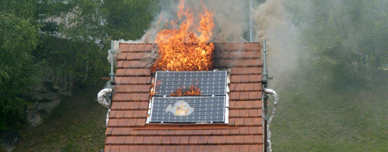 panneau solaire incendie