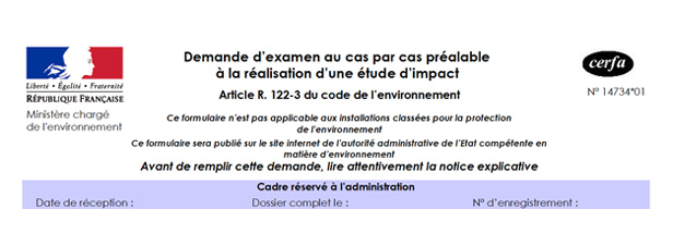 "Etude d'impact : la procédure de ""cas par cas"" en question"