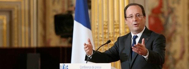 """François Hollande propose """"une grande entreprise franco-allemande"""" pour la transition énergétique"""