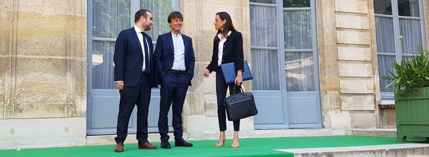 Deux jeunes secrétaires d'Etat rejoignent Nicolas Hulot à l'Ecologie
