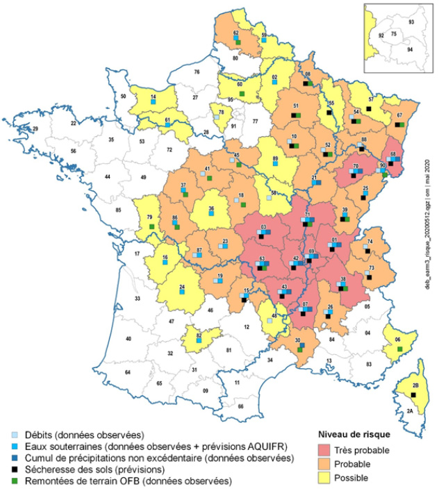 carte sécheresse france 2020 Le gouvernement tente d'anticiper la sécheresse de l'été 2020