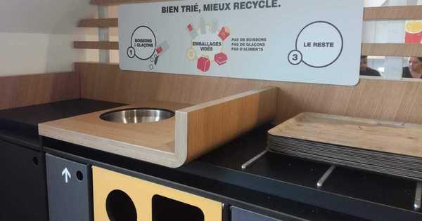 Les chaînes de fast-food ne proposent toujours pas de tri des déchets en salle