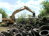 Focus sur l'élimination des stocks historiques de pneus usagés