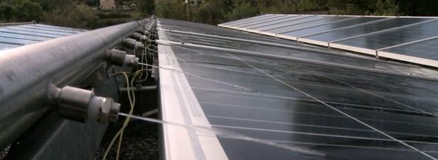 ae news panneaux solaire canal provence aspersion refroidissement rendement
