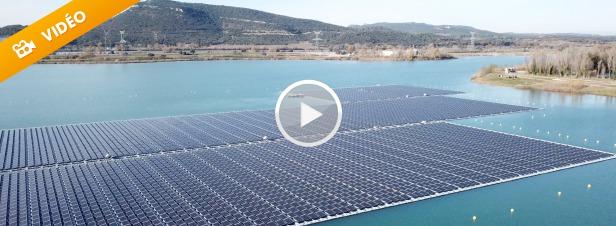 La plus grande centrale photovoltaïque flottante d'Europe se construit dans le Vaucluse