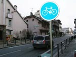 Photo Panneau de piste cyclable